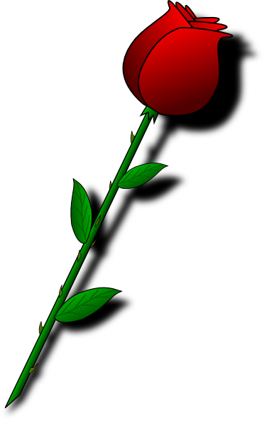 svg library library Rose clipart single. Red .