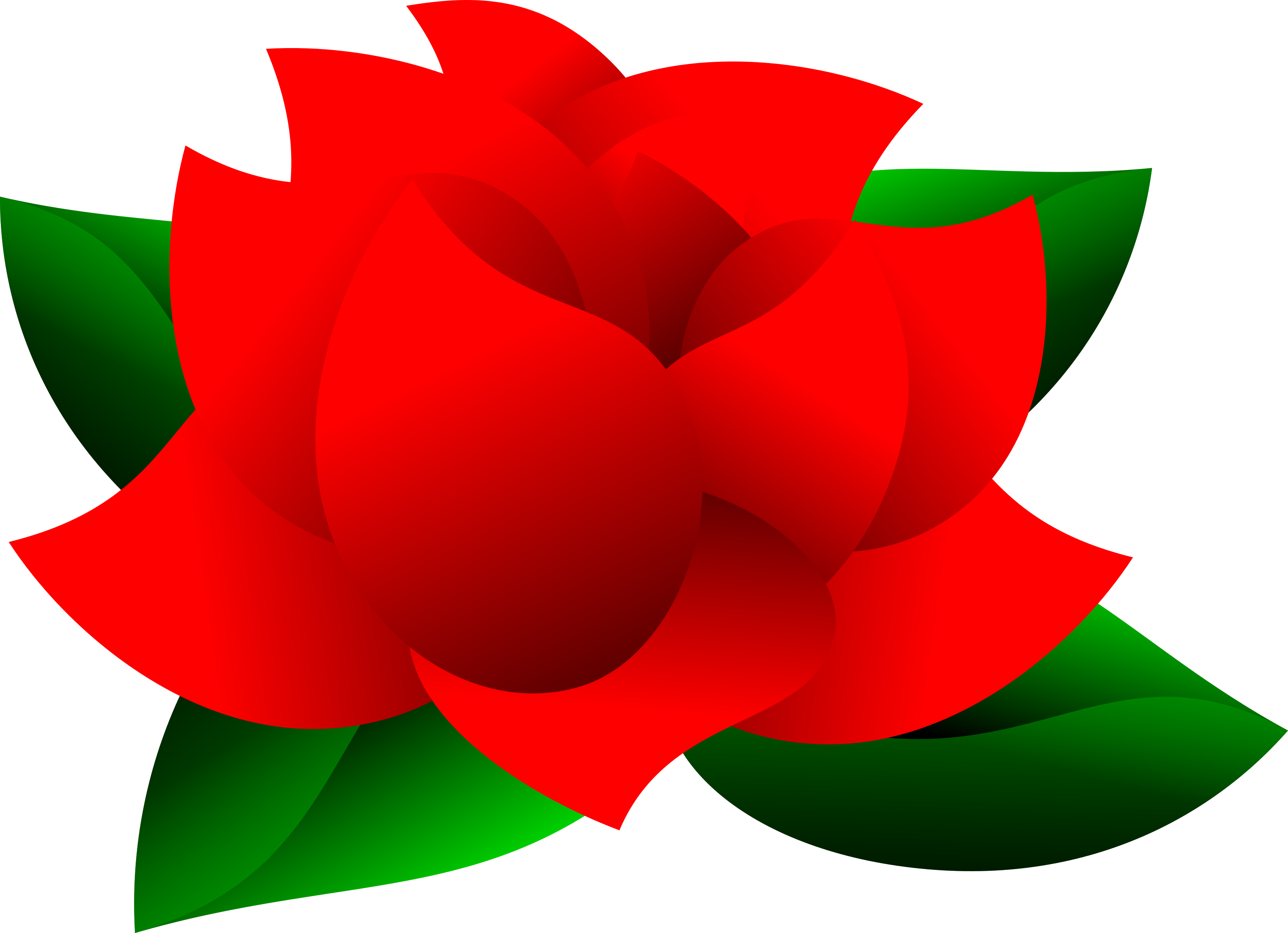 clipart free Beautiful Red Rose with Green Leaves Clipart