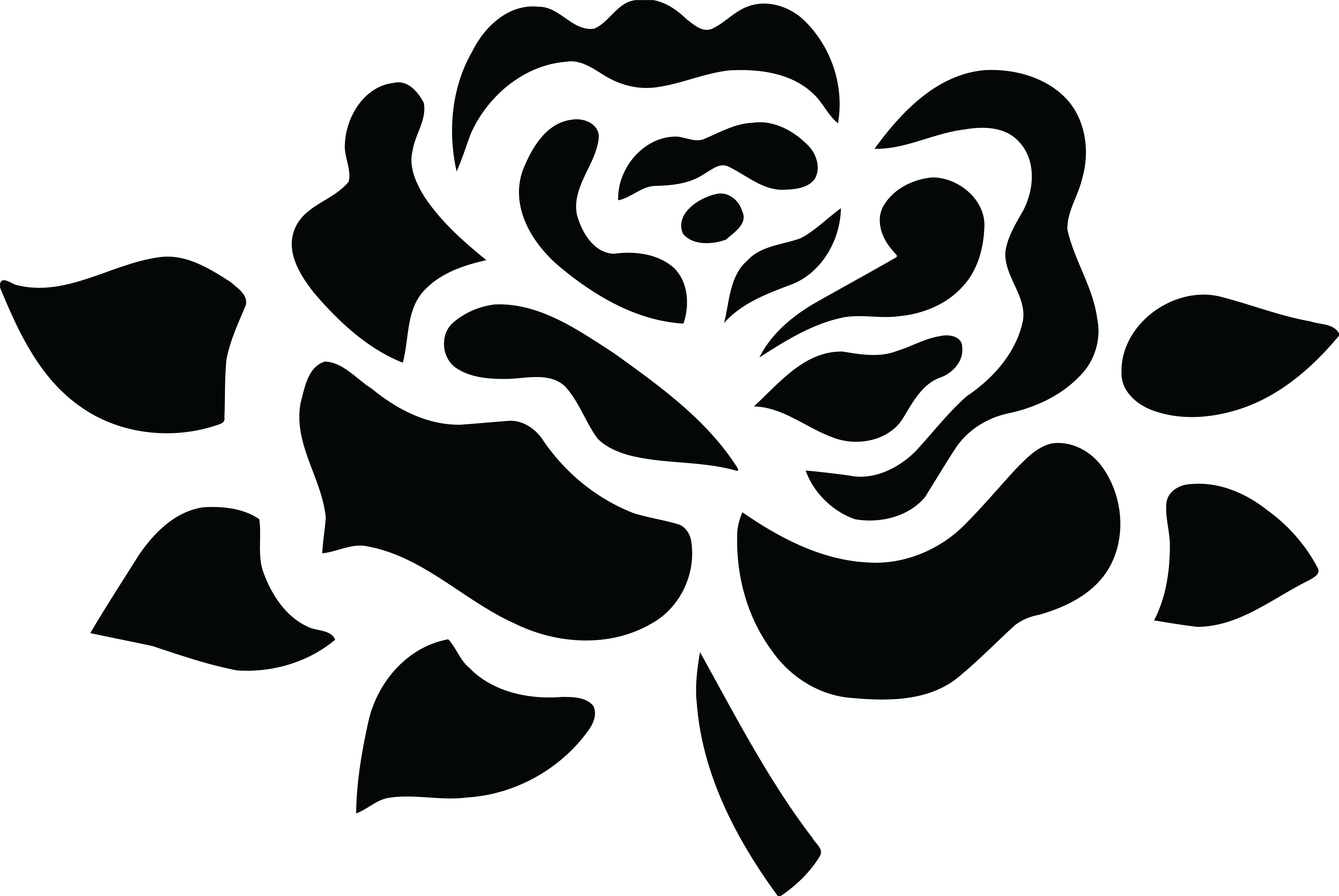 banner free library rose clipart black and white