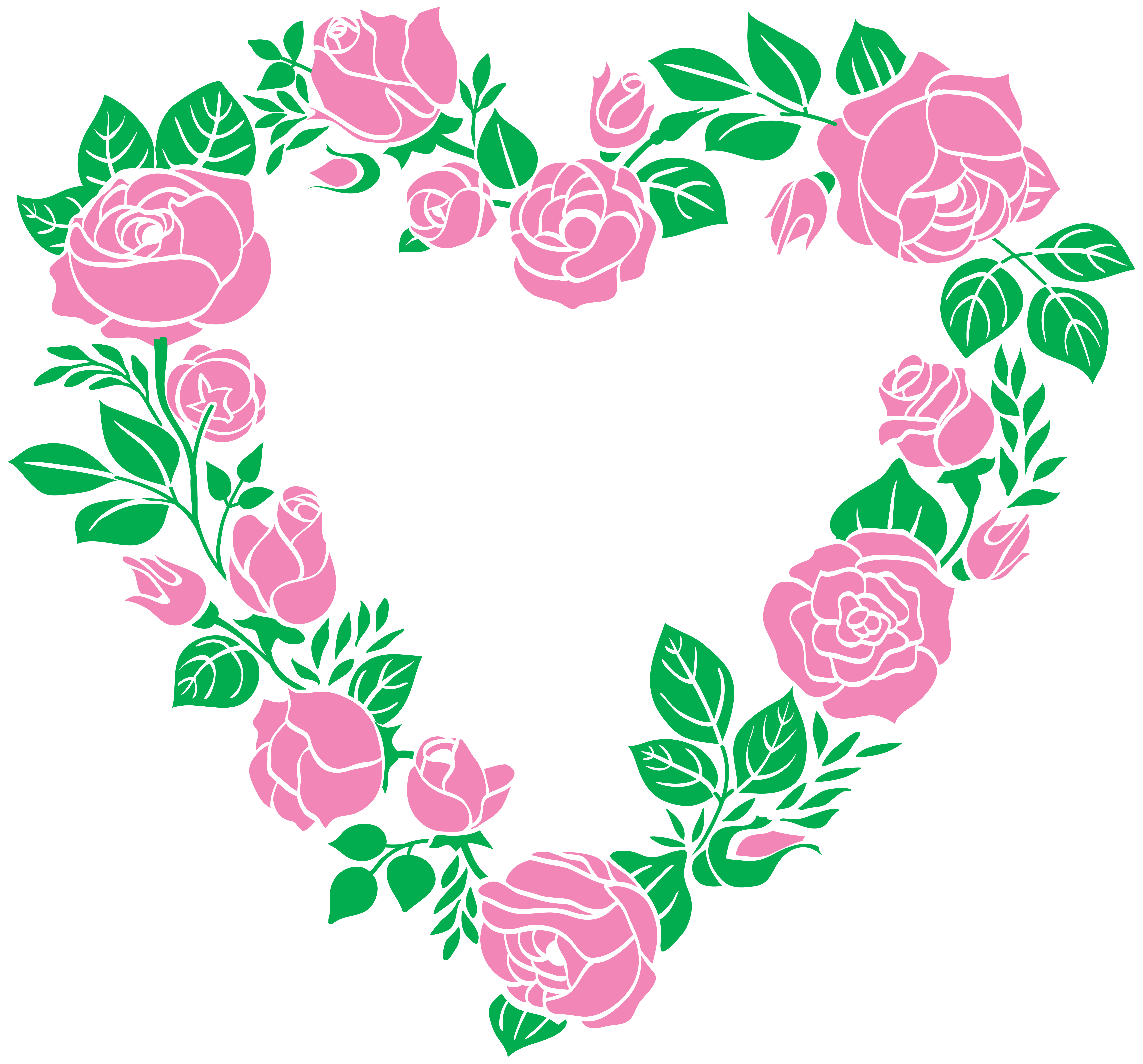 banner royalty free stock Pink rose heart border. Clipart hearts borders