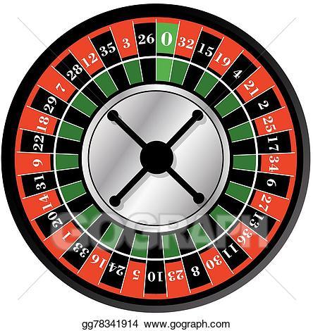 banner stock Roulette wheel clipart. Vector illustration