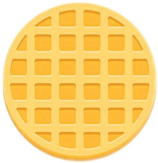 graphic library library Round waffle clipart. Waffles strangerthings eggos eleven