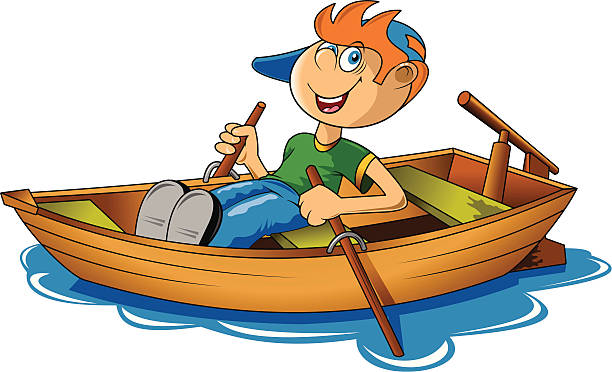 picture freeuse library Boat rowing pencil and. Row clipart