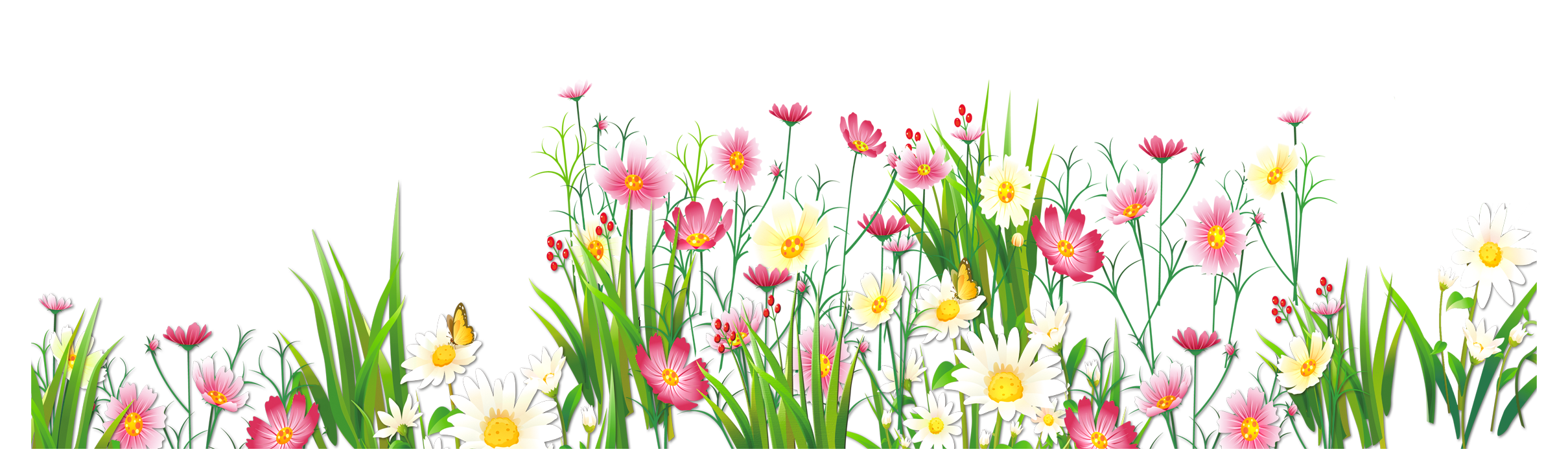 vector library Yard clipart transparent. Flowers and grass png