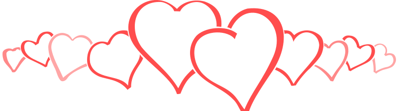 transparent stock Row Of Hearts Clipart