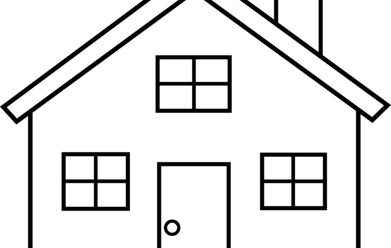 clip free library Spectacular Idea House Clipart Black And White Set Sketch Outline