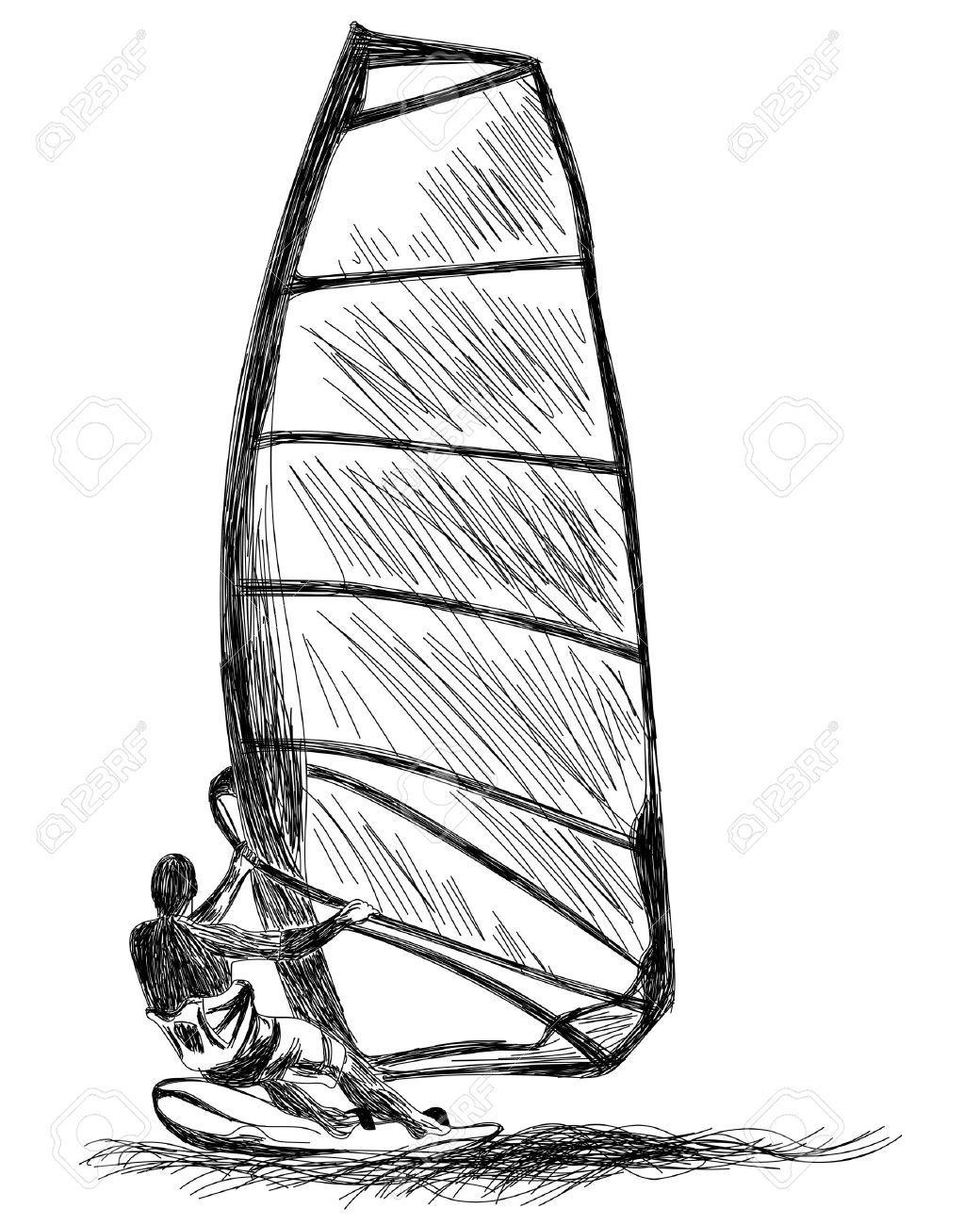 free Row Boat Drawing