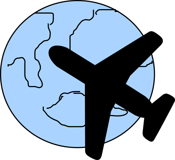 picture black and white library Plane Clip Art at Clker