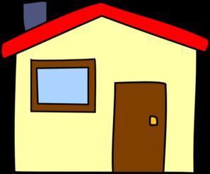 banner stock Simple Cartoon House Clip Art at Clker