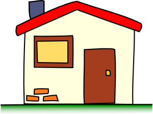 image black and white My House Clip Art at Clker