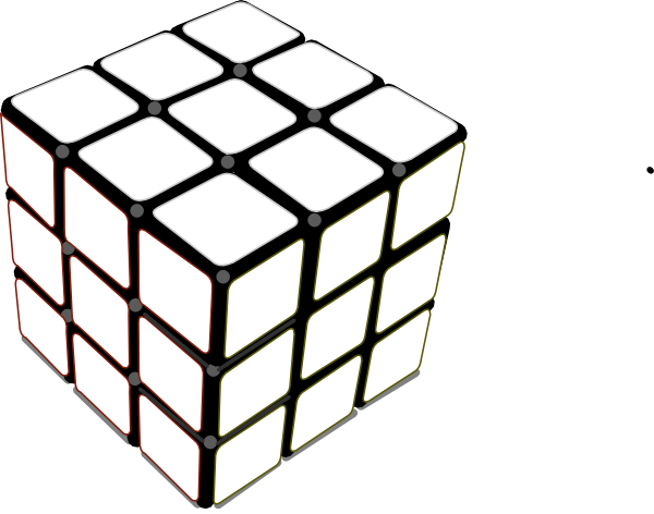 image stock Rubiks Cube White Clip Art at Clker