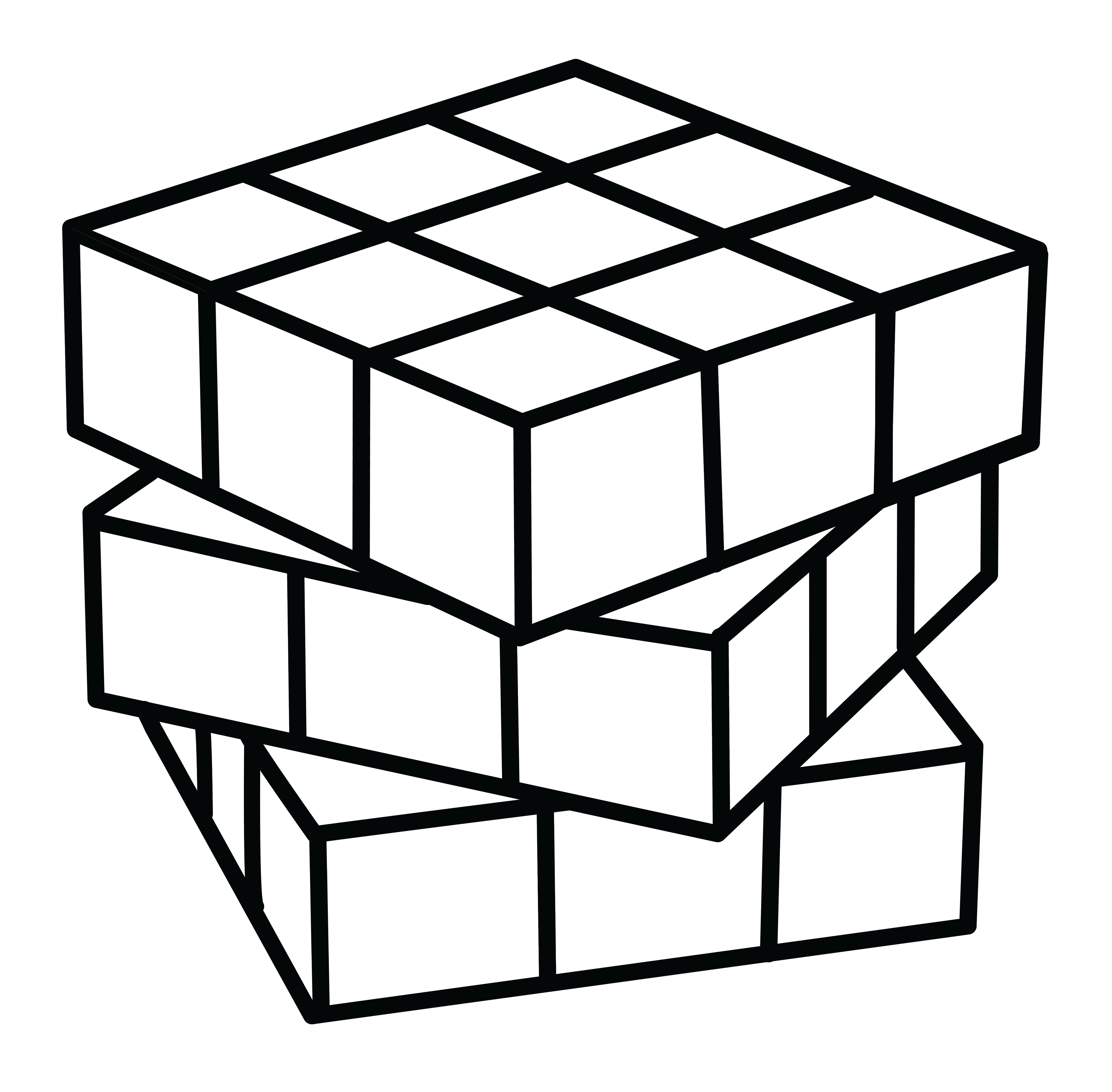 free Rubiks Cube Coloring Page