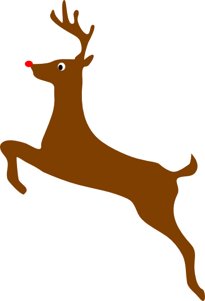 vector Rudolph The Red Nosed Reindeer Clip Art at Clker