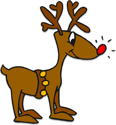 vector black and white stock Free christmas the red. Rudolph clipart.