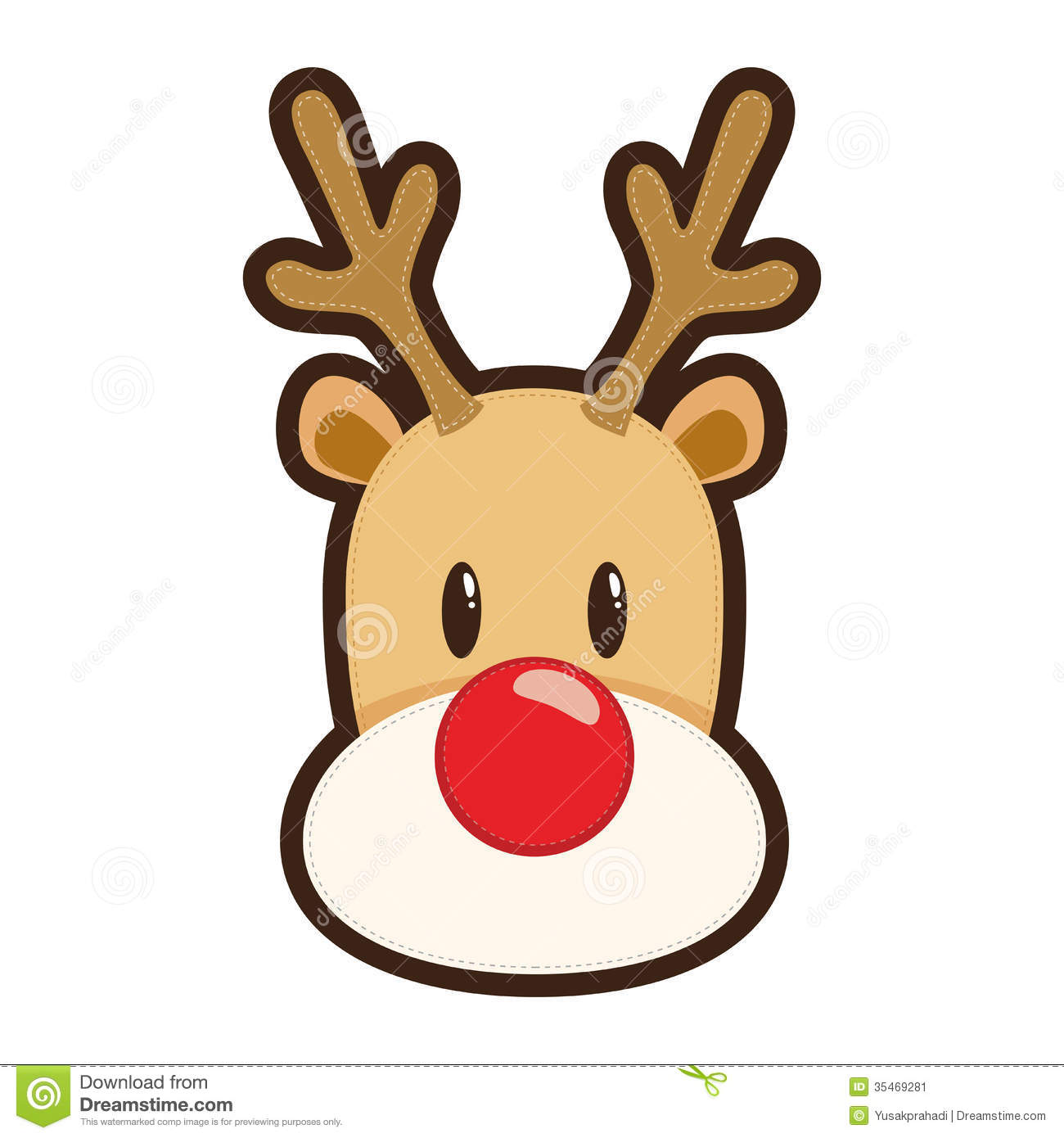 graphic download Rudolph clipart. Cartoon the red nosed.
