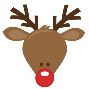 image library stock The red nosed reindeer. Rudolph clipart.