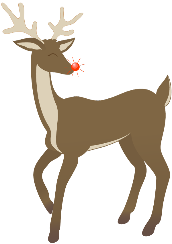 image royalty free Rudolph Clip Art Black And White