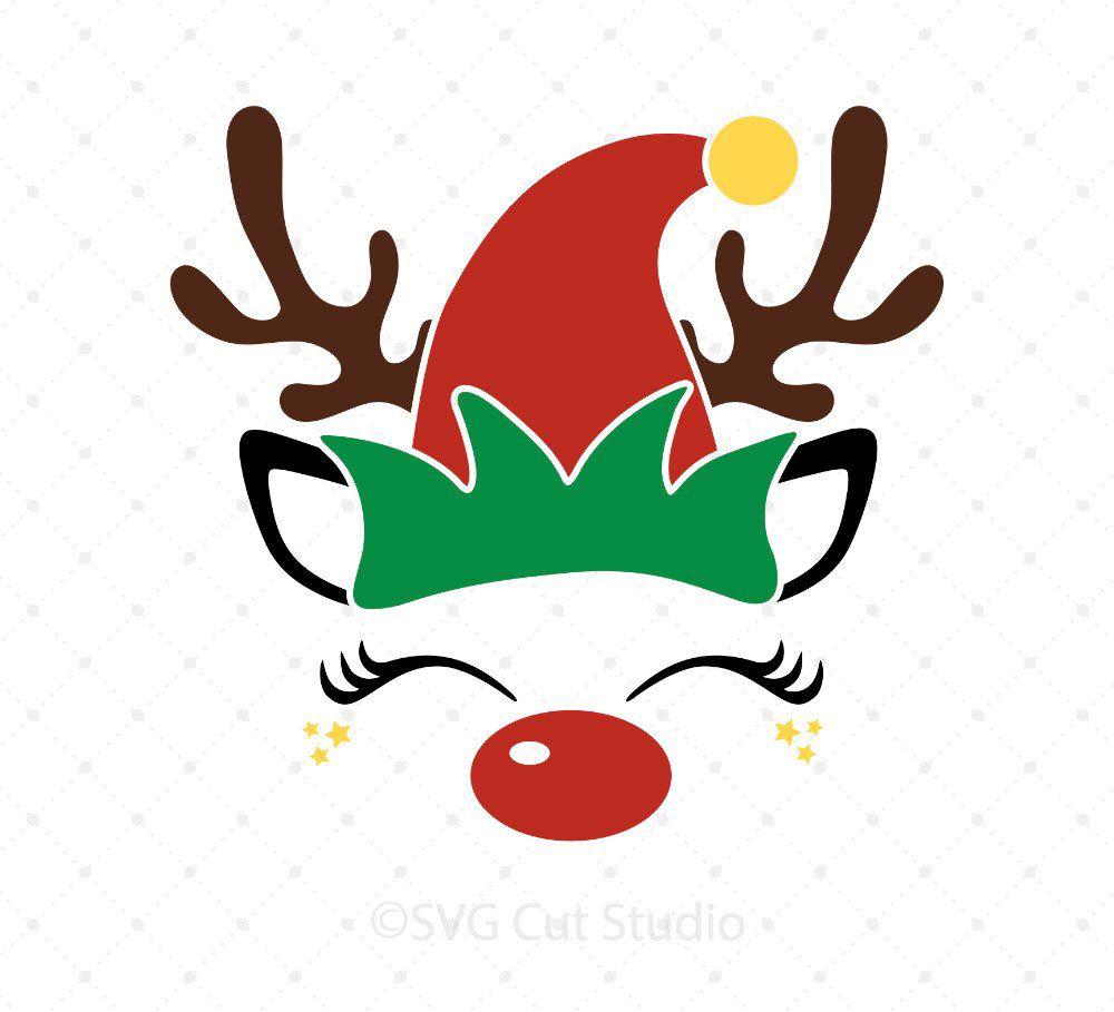 jpg library download Rudolph SVG Christmas Reindeer Face SVG Elf svg Rudolph