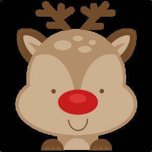 jpg freeuse download Peeking Reindeer SVG scrapbook cut file cute clipart files for