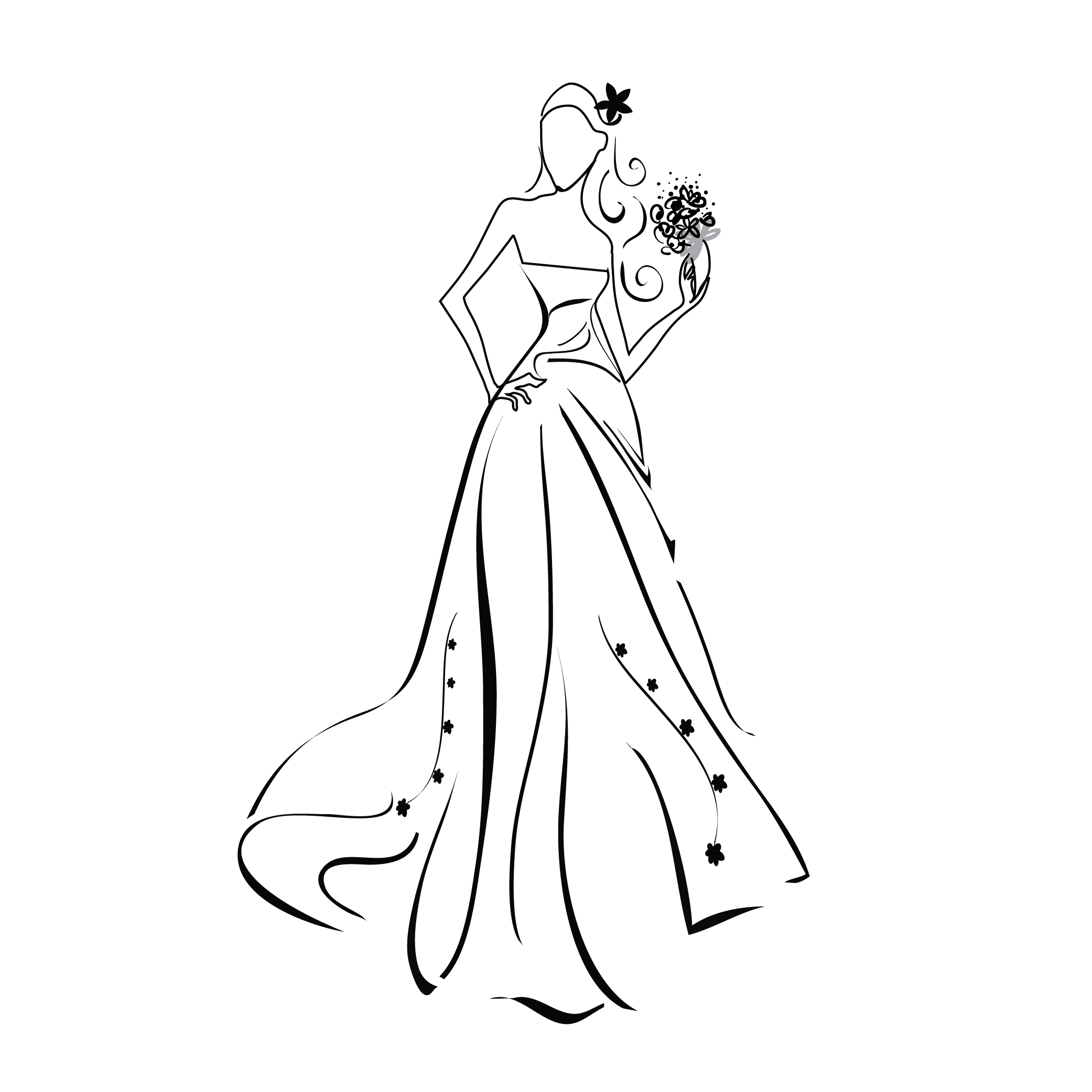image royalty free Prom Dresses Drawing at GetDrawings
