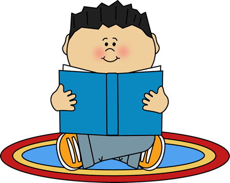 vector transparent stock Boy reading on a. Rug clipart.