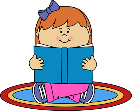 vector royalty free download Girl Reading on a Rug