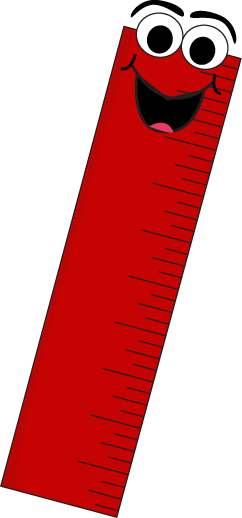 freeuse library Red cartoon clip art. Ruler clipart.