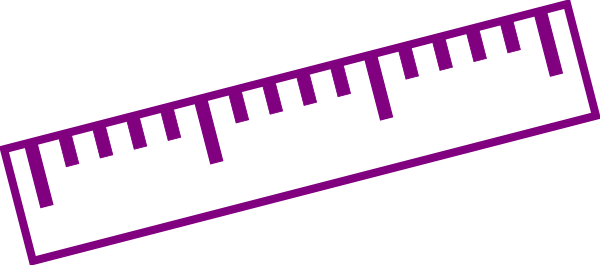 png freeuse library Purple clip art at. Ruler clipart silhouette.
