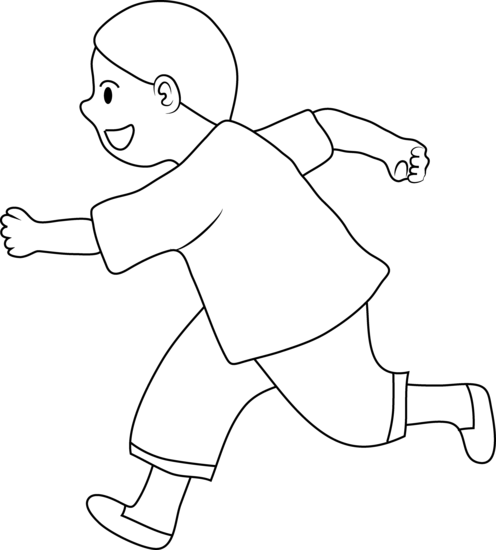 graphic royalty free Kid running clipart.  collection of kids