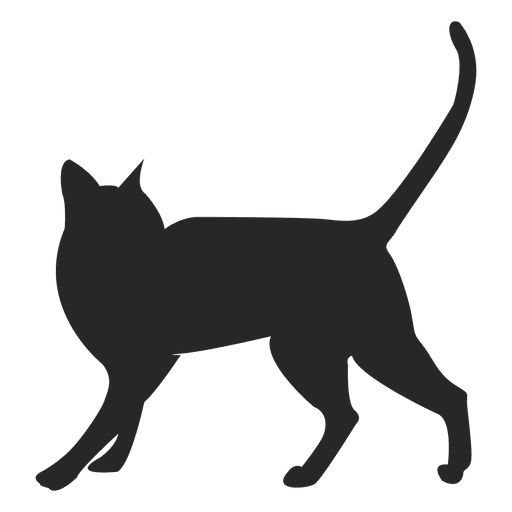 royalty free download Running Cat Silhouette at GetDrawings