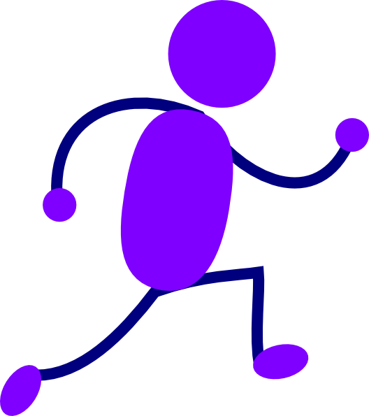 clip transparent Purple Running Man Clip Art at Clker