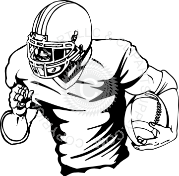 clipart free download Football Player Running With Ball