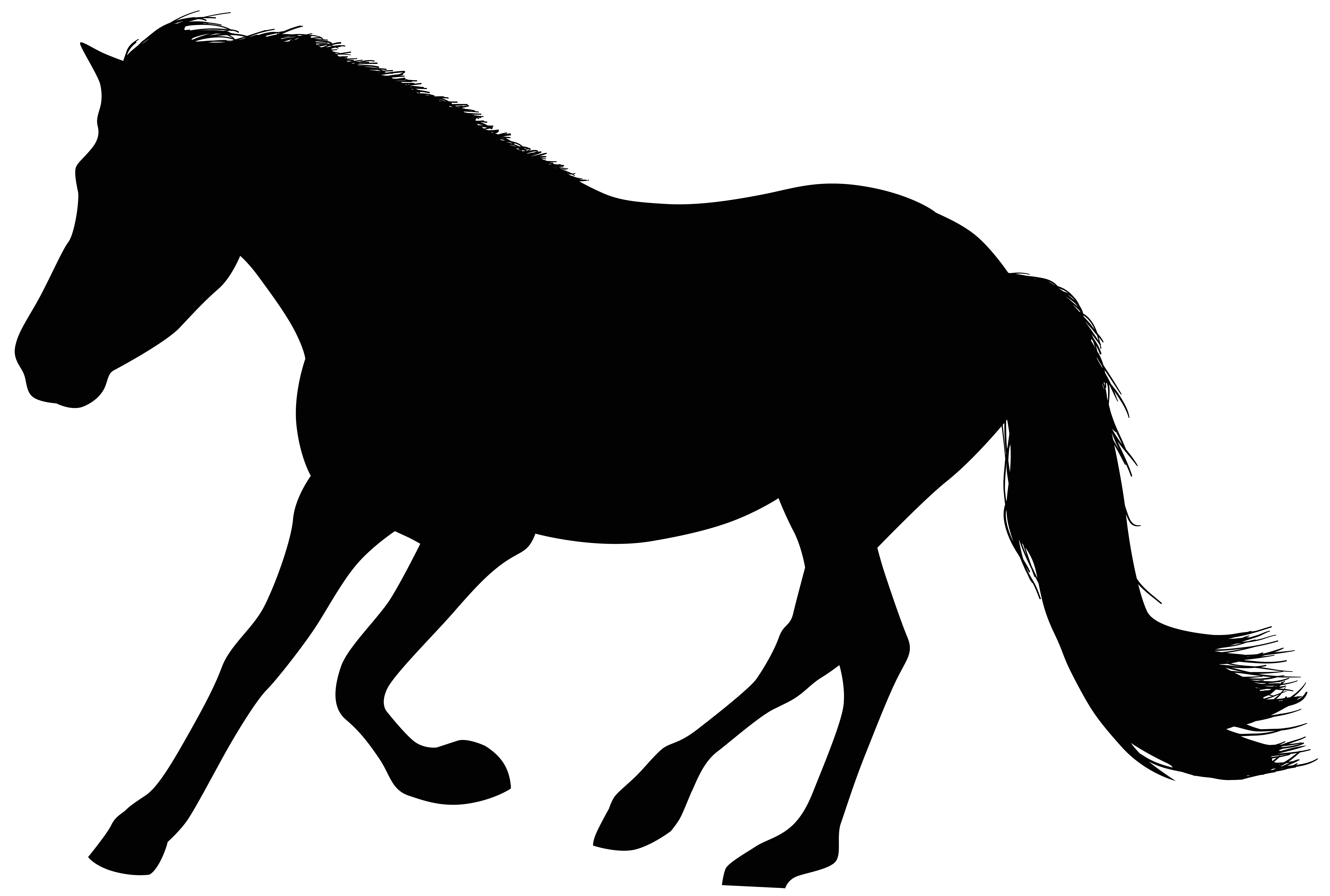 vector freeuse library Running Horse Silhouette Clip Art at GetDrawings