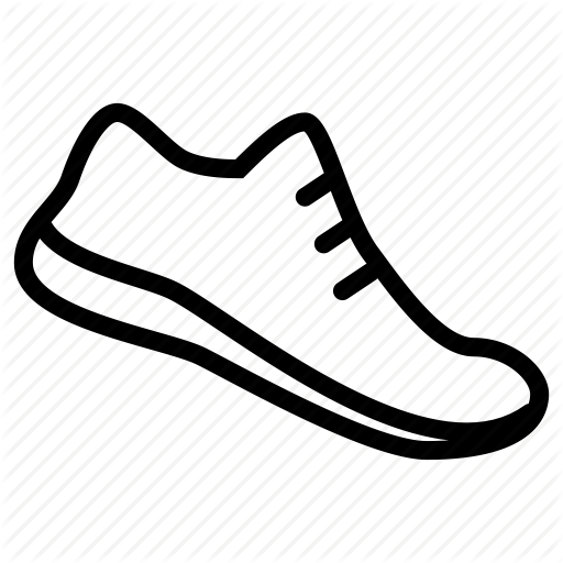 image stock Outline of shoe a. Drawing sneakers easy