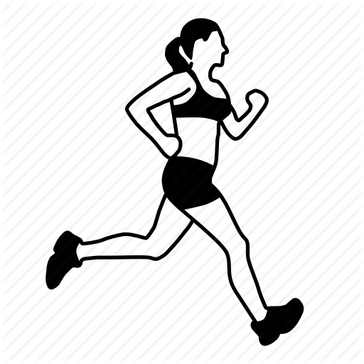 image black and white stock At getdrawings com free. Drawing running woman