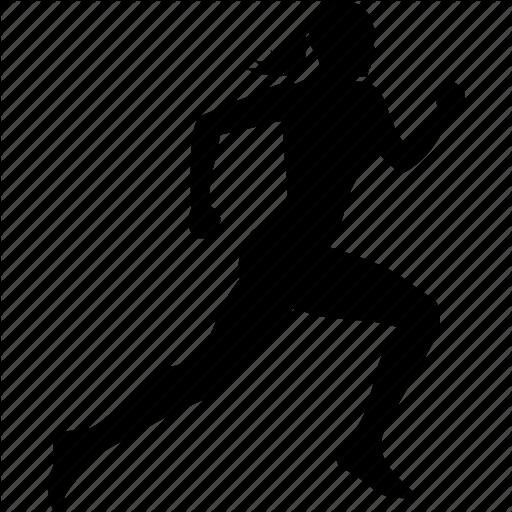 jpg transparent stock Woman Running Silhouette at GetDrawings