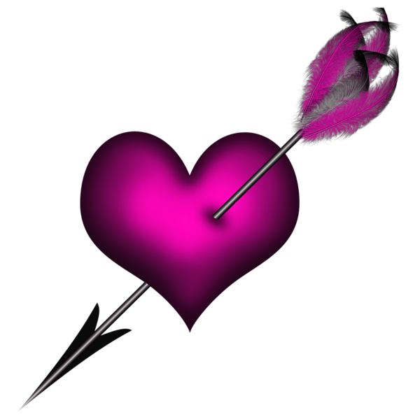 image library stock Rustic arrow clipart. Transparent pink heart with.