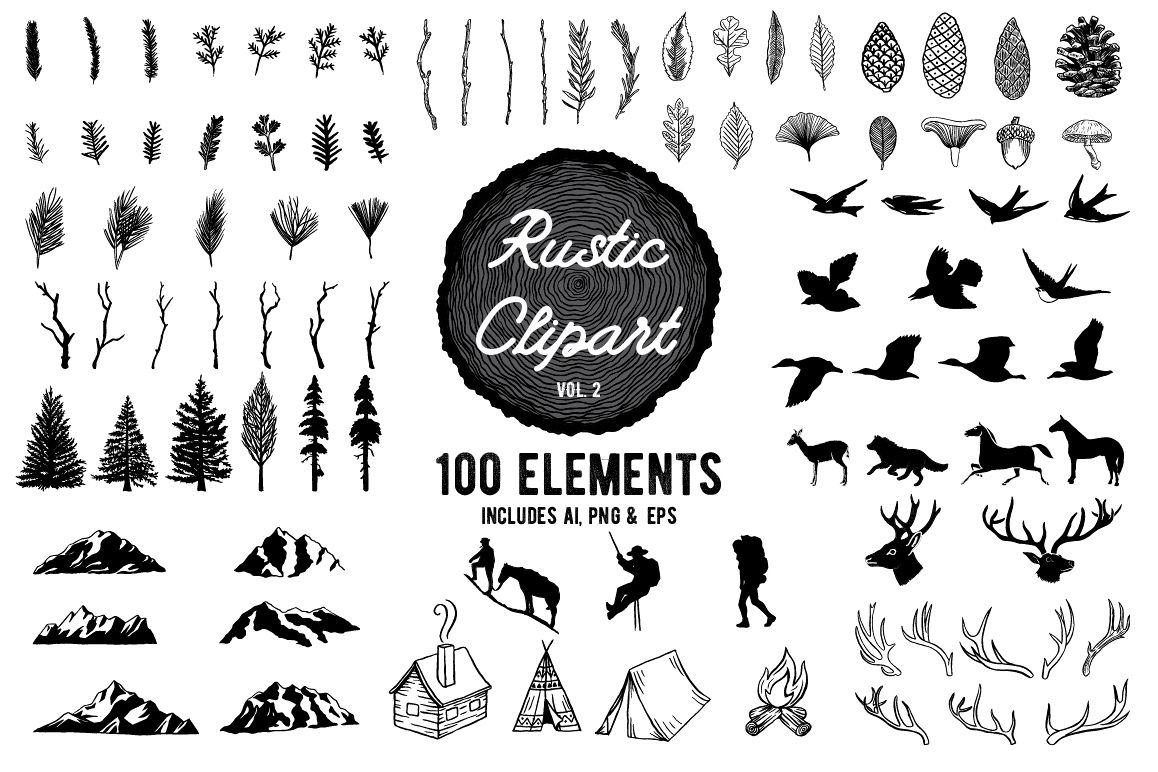 png transparent Rustic clipart. Designs vol .