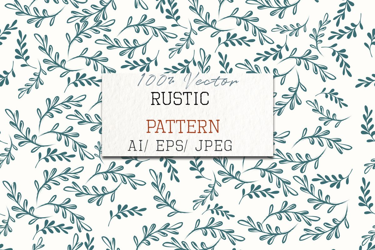 jpg black and white stock Rustic vector. Floral pattern in soft