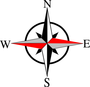 svg black and white library East west ten clip. Vector anchors compass