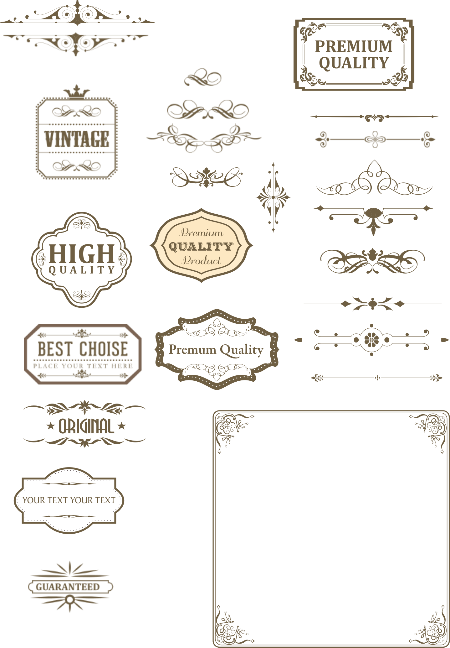 image free Vector bands vintage. Text box and dividers