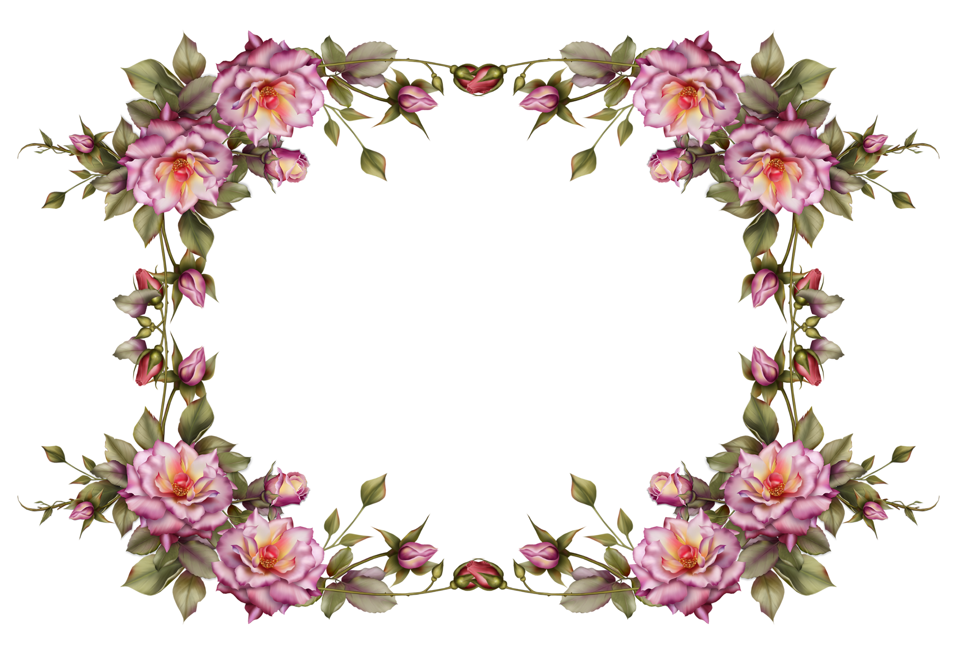 picture transparent Rustic wreath clipart. Flower frame by collect