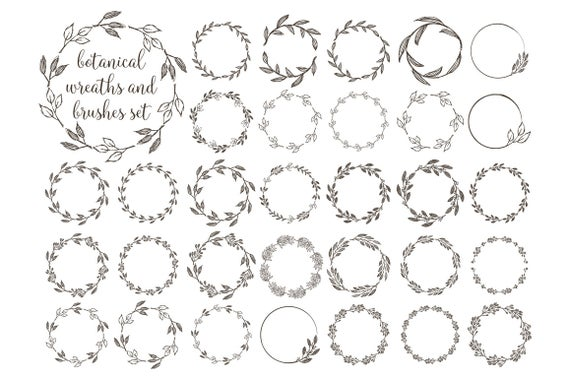 image download Wreaths botanical grunge png. Rustic wreath clipart