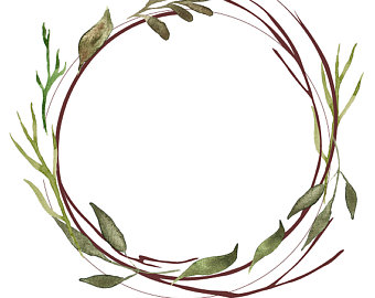 banner free stock Twig png free . Rustic wreath clipart
