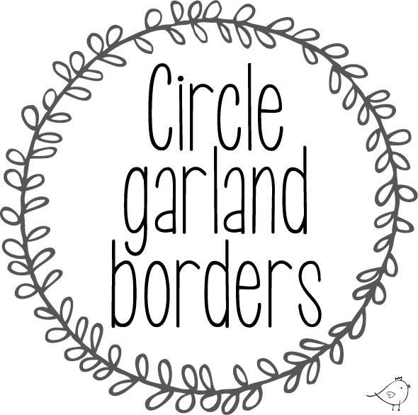picture Circle garland borders free. Rustic wreath clipart