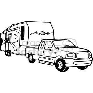 clip art freeuse download Camping trailer clipart. Truck and rv camper