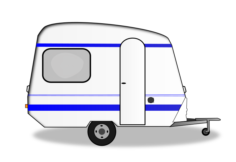 picture Camper clipart black white. Caravan rv park free