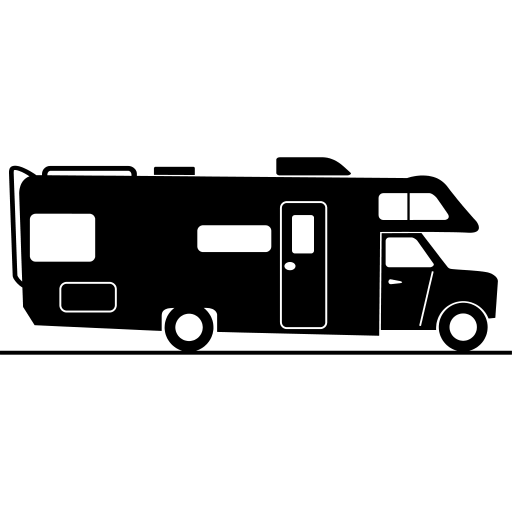 graphic stock Motorhome Silhouette Clipart transparent PNG