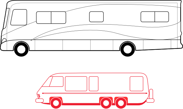 svg black and white stock Motorhome Clip Art at Clker