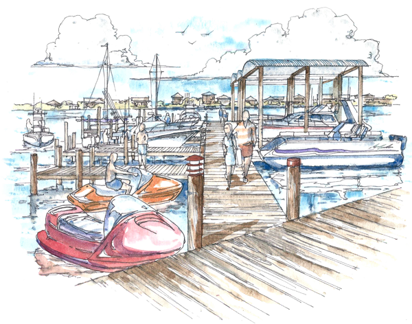 clip transparent stock Boat Marina
